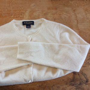 Brooks Brothers cashmere cardigan sweater cream